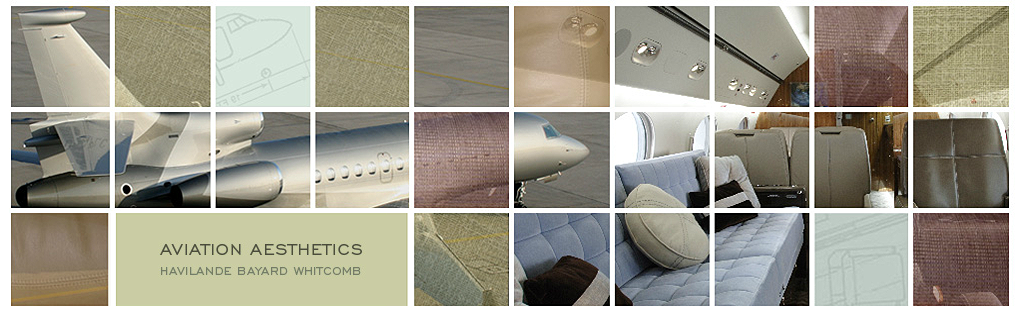 Interior design and exterior paint schemes for luxury aircraft